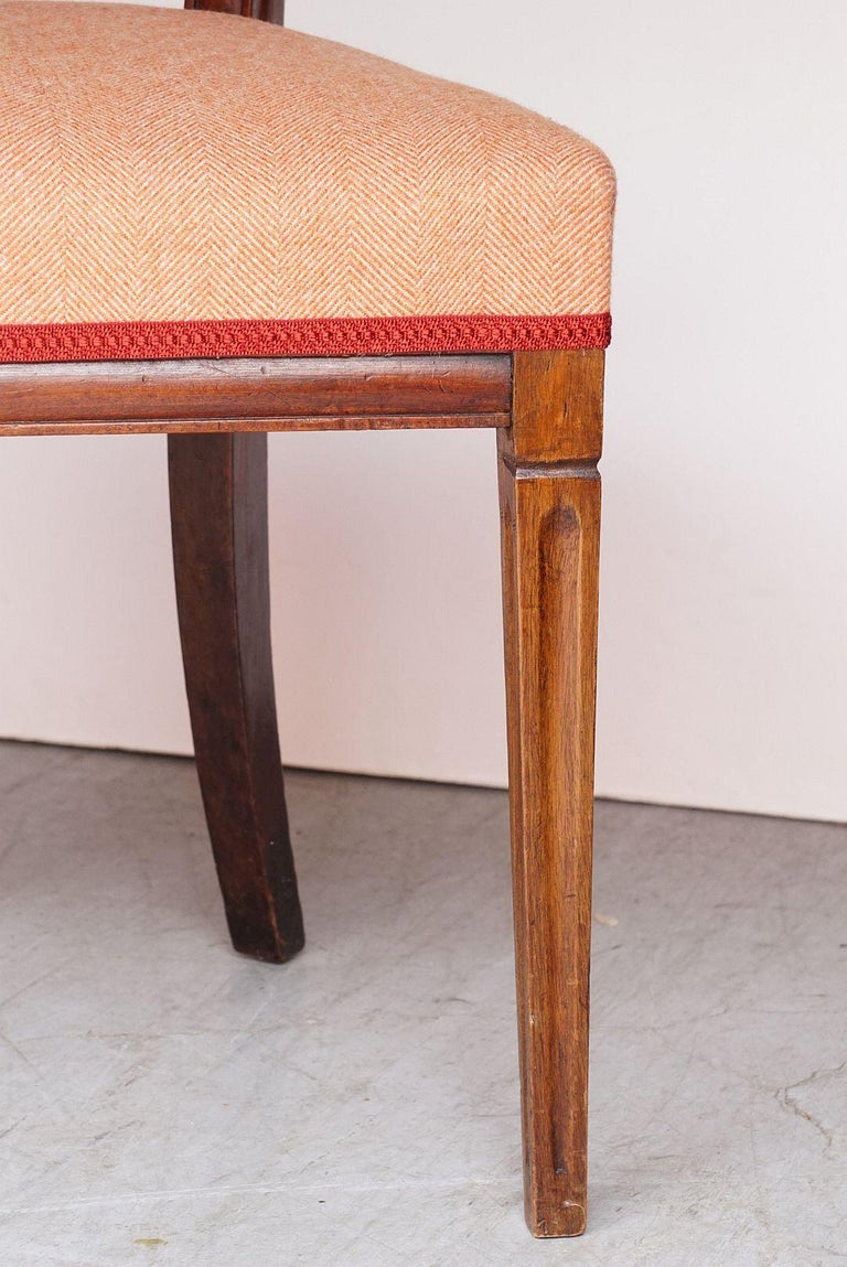 Dutch Upholstered Dining Chairs of Mahogany For Sale 6