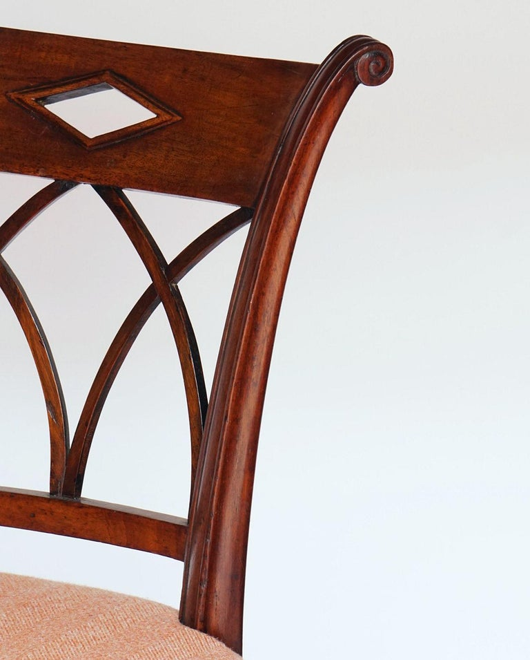 Dutch Upholstered Dining Chairs of Mahogany For Sale 9