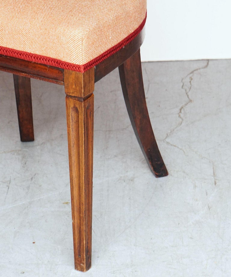Dutch Upholstered Dining Chairs of Mahogany For Sale 10
