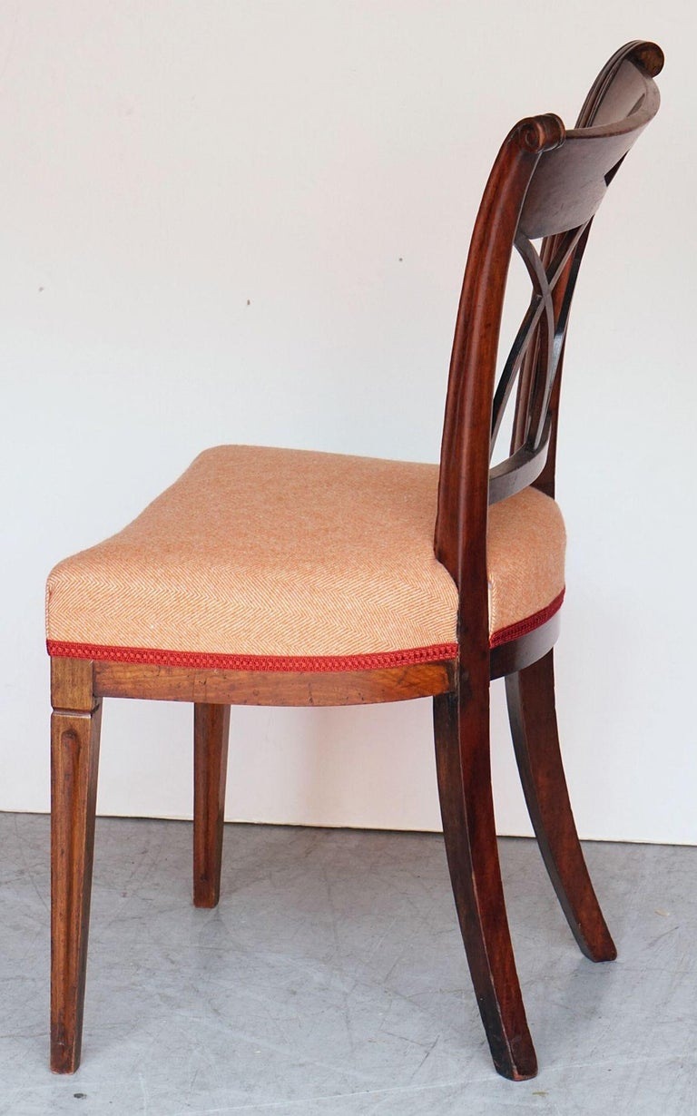 Dutch Upholstered Dining Chairs of Mahogany For Sale 13