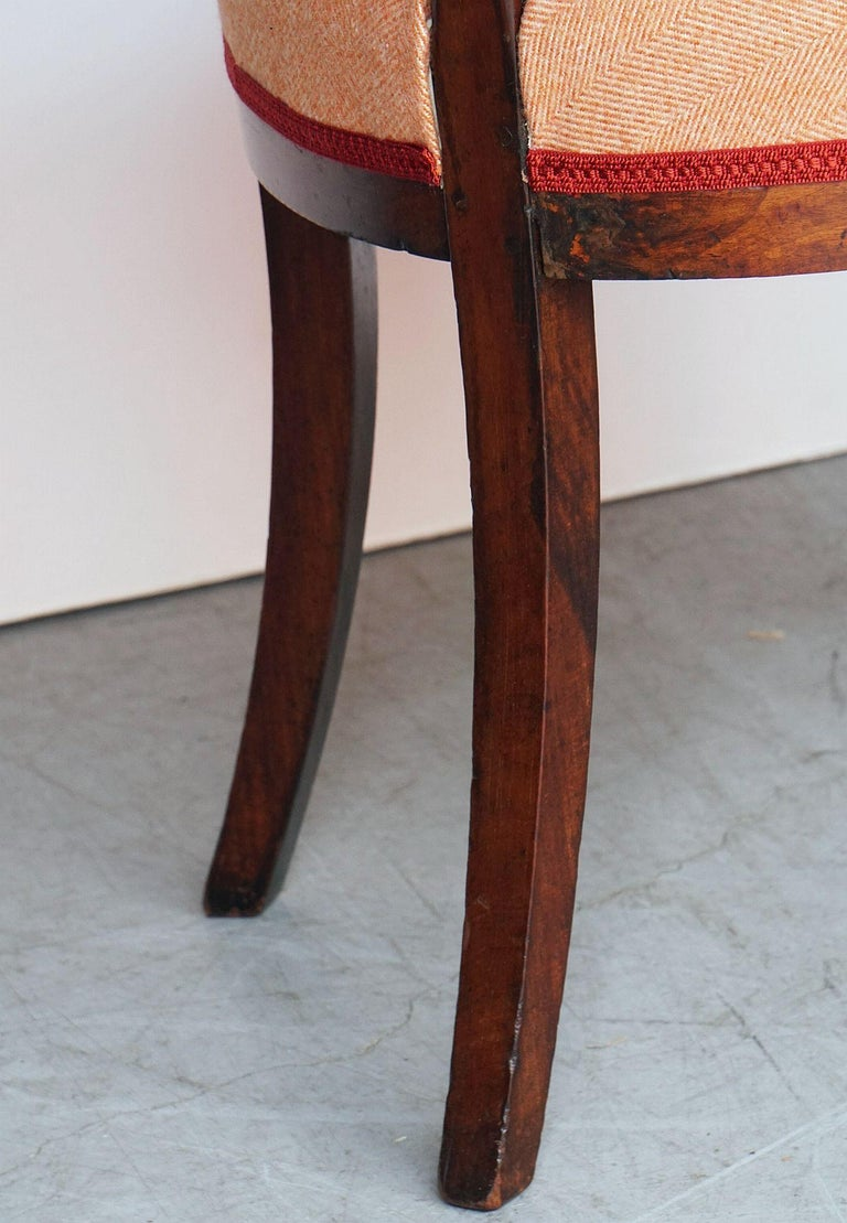 Dutch Upholstered Dining Chairs of Mahogany For Sale 14