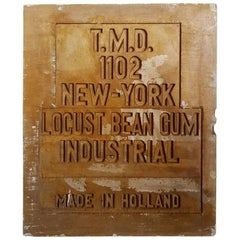 Dutch Vintage Plaster Mold New York-Holland, Mid-20th Century