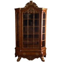 Dutch Vitrine-Cupboard in Baroque Style