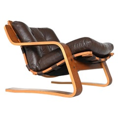 Dutch Wenge Plywood Lounge Chair, the Netherlands, 1960
