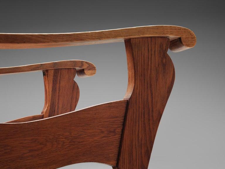 Dutch Wicker Armchair in Cane and Oak For Sale 5