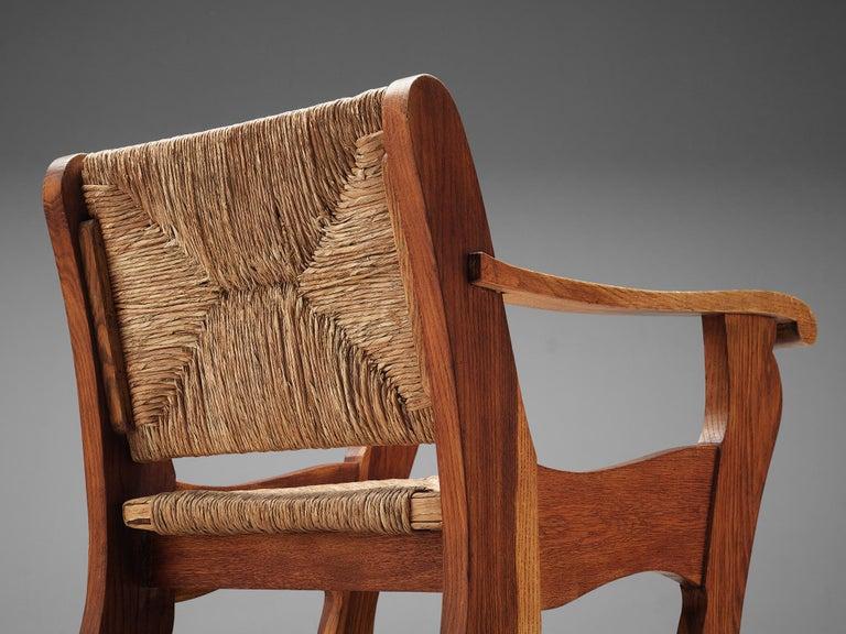 Dutch Wicker Armchair in Cane and Oak For Sale 2
