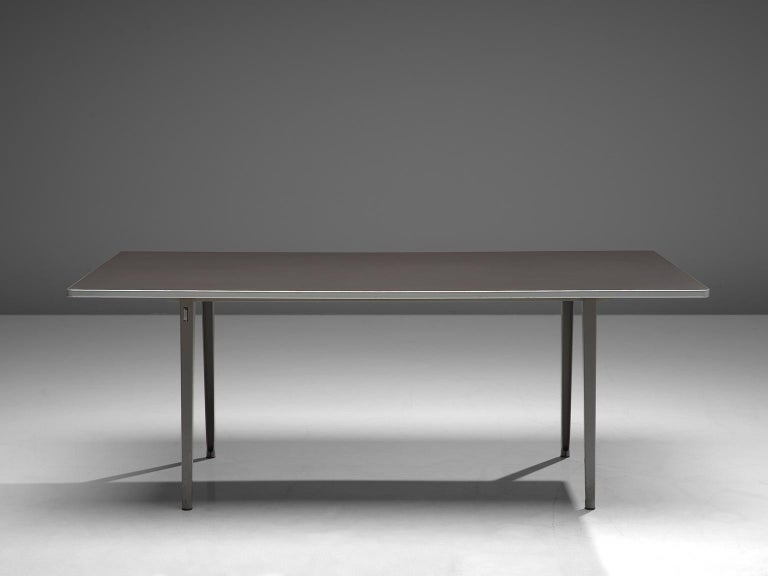 Mid-Century Modern Dutch Work Table in Metal by Friso Kramer For Sale