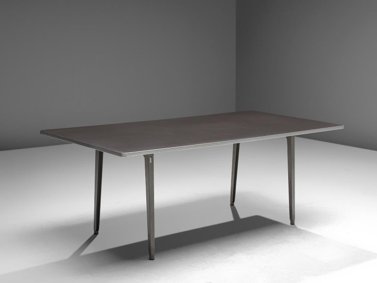 Mid-20th Century Dutch Work Table in Metal by Friso Kramer For Sale