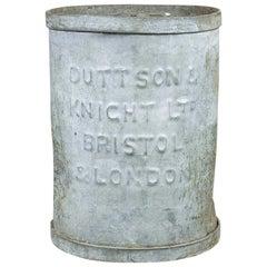Duttson and Knight Vintage Storage Drum, 20th Century