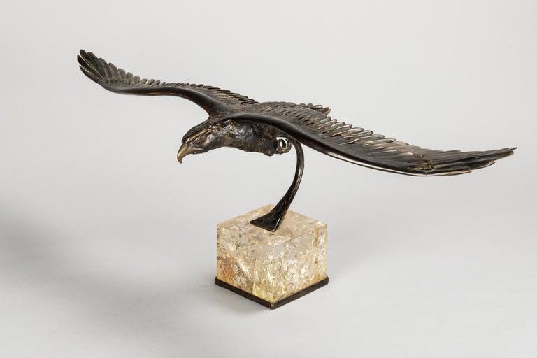 Duval Brasseur Two Bronze Sculptures, 1970s For Sale 3