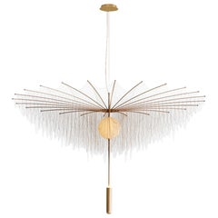 Duvet Des Chardons by Larose Guyon / Gold and Brass Chandelier / Limited Edition