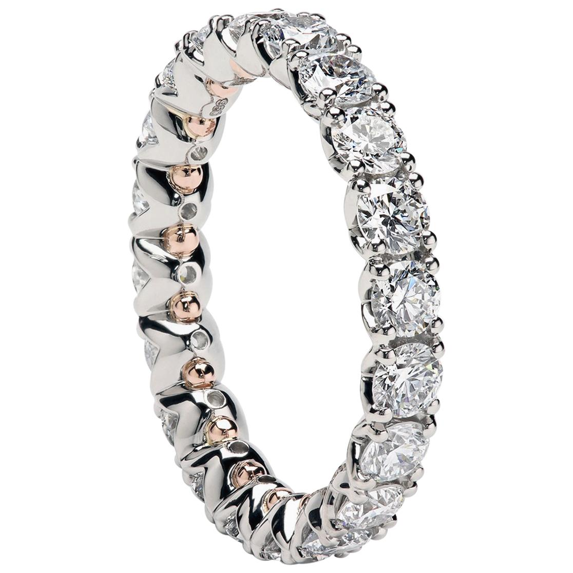 """Duvet"" Eternity Wedding Band Set with Round Diamonds by Leon Mege"