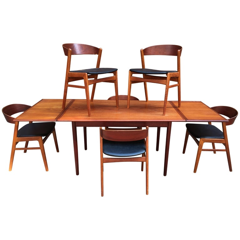 DUX Danish Modern Teak Dining Room Set For Sale At 1stdibs