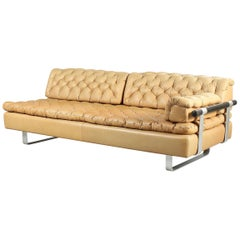 DUX Daybed Upholstered with Natural Coloured Leather