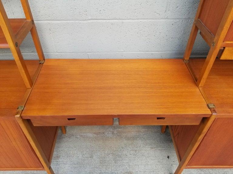 Dux Teak Danish Modern Storage / Shelf / Wall Unit For Sale 4