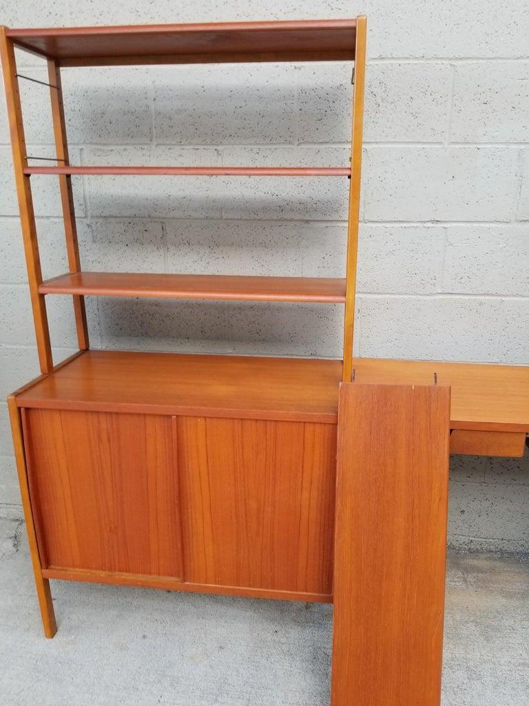 Dux Teak Danish Modern Storage / Shelf / Wall Unit For Sale 5