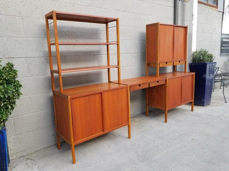 Dux Teak Danish Modern Storage / Shelf / Wall Unit For Sale 9