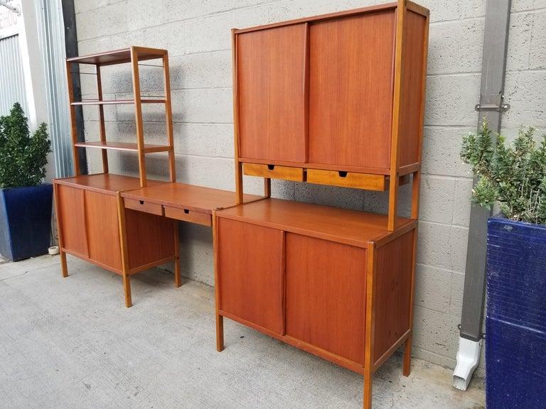 Dux Teak Danish Modern Storage / Shelf / Wall Unit For Sale 10