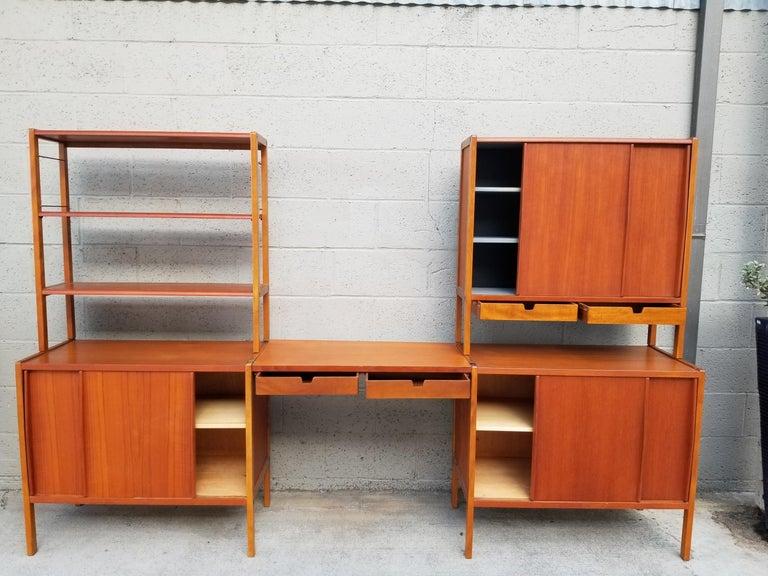 Swedish Dux Teak Danish Modern Storage / Shelf / Wall Unit For Sale