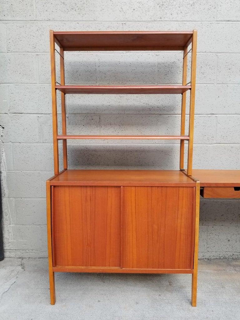 20th Century Dux Teak Danish Modern Storage / Shelf / Wall Unit For Sale