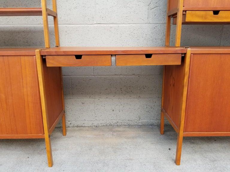 Dux Teak Danish Modern Storage / Shelf / Wall Unit For Sale 1
