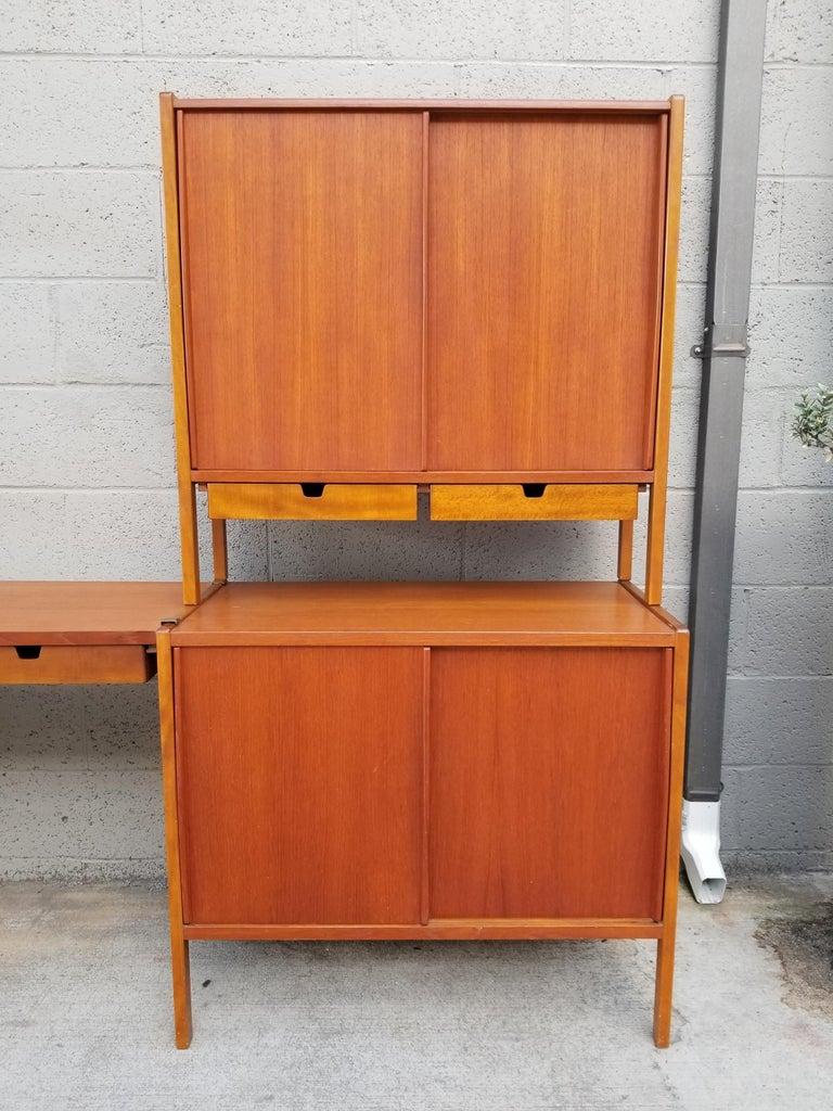 Dux Teak Danish Modern Storage / Shelf / Wall Unit For Sale 2