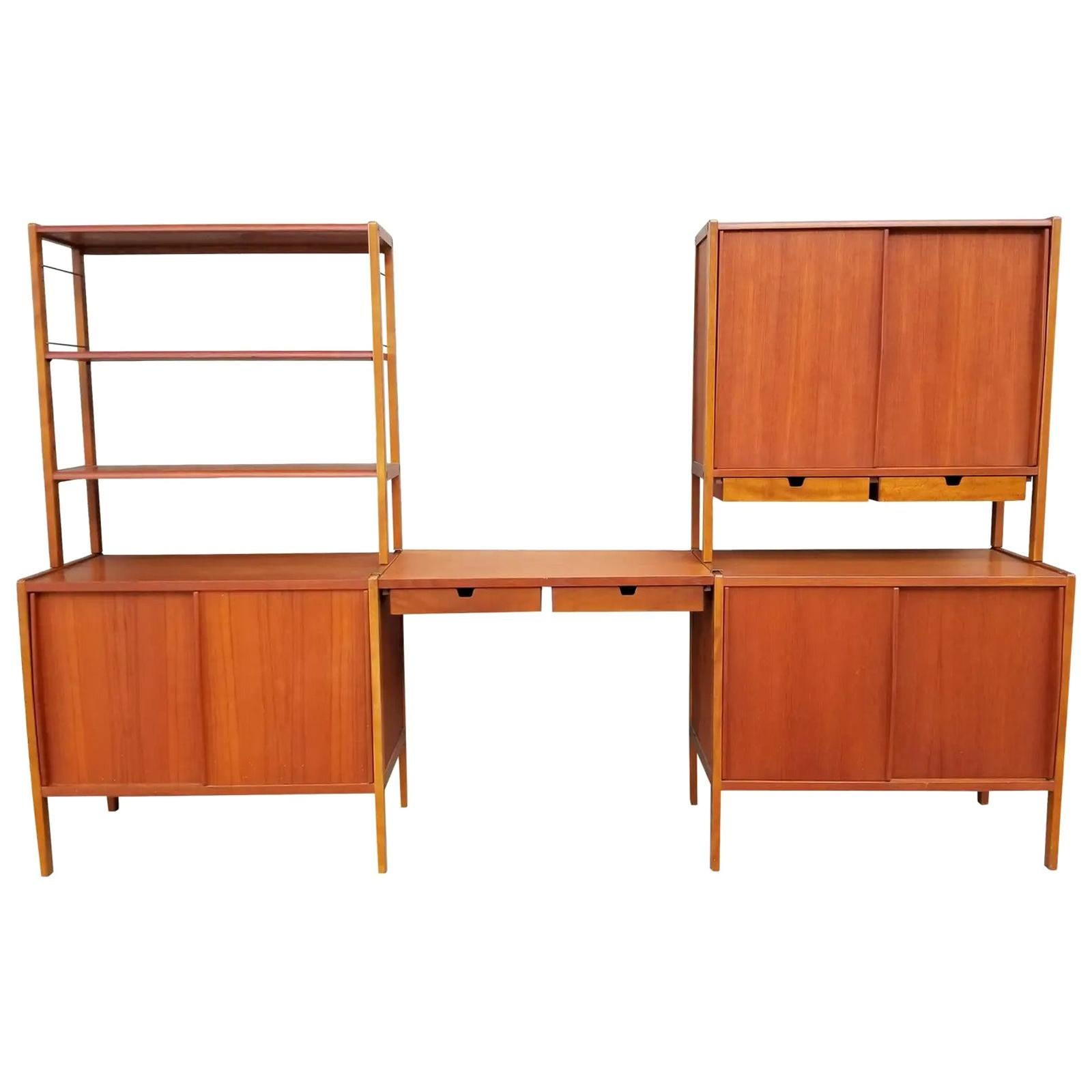 Dux Teak Danish Modern Storage / Shelf / Wall Unit
