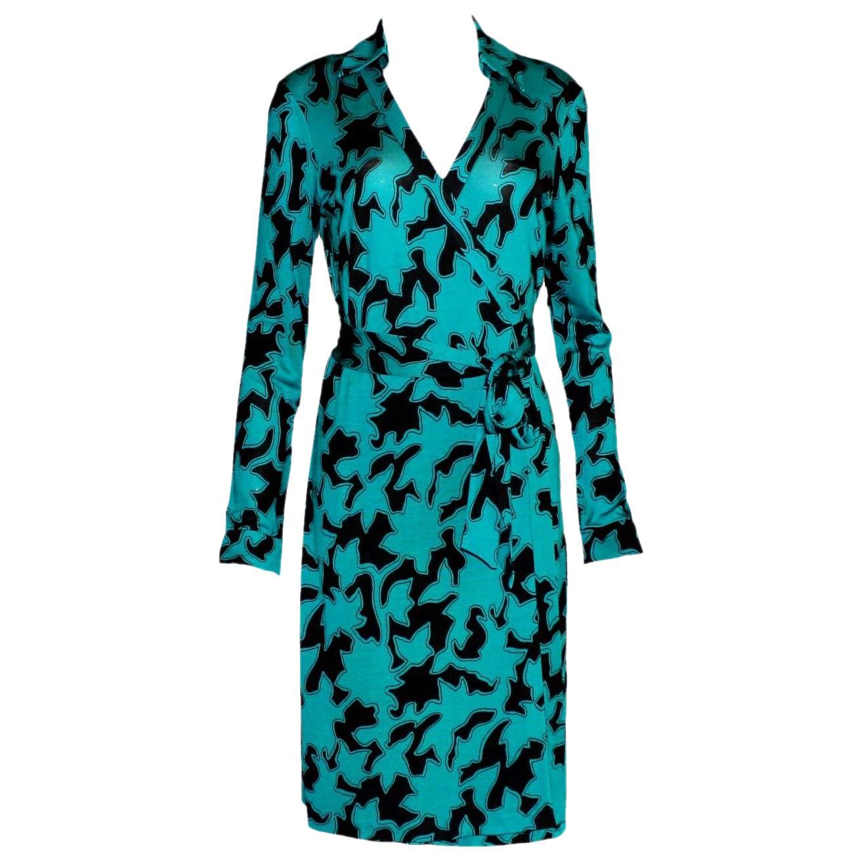 NEW DVF Diane von Furstenberg Wrap Dress Vintage Print Reissue