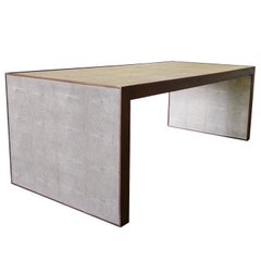 Dwell Studio Coffee Table With Walnut Frame & Faux Shagreen
