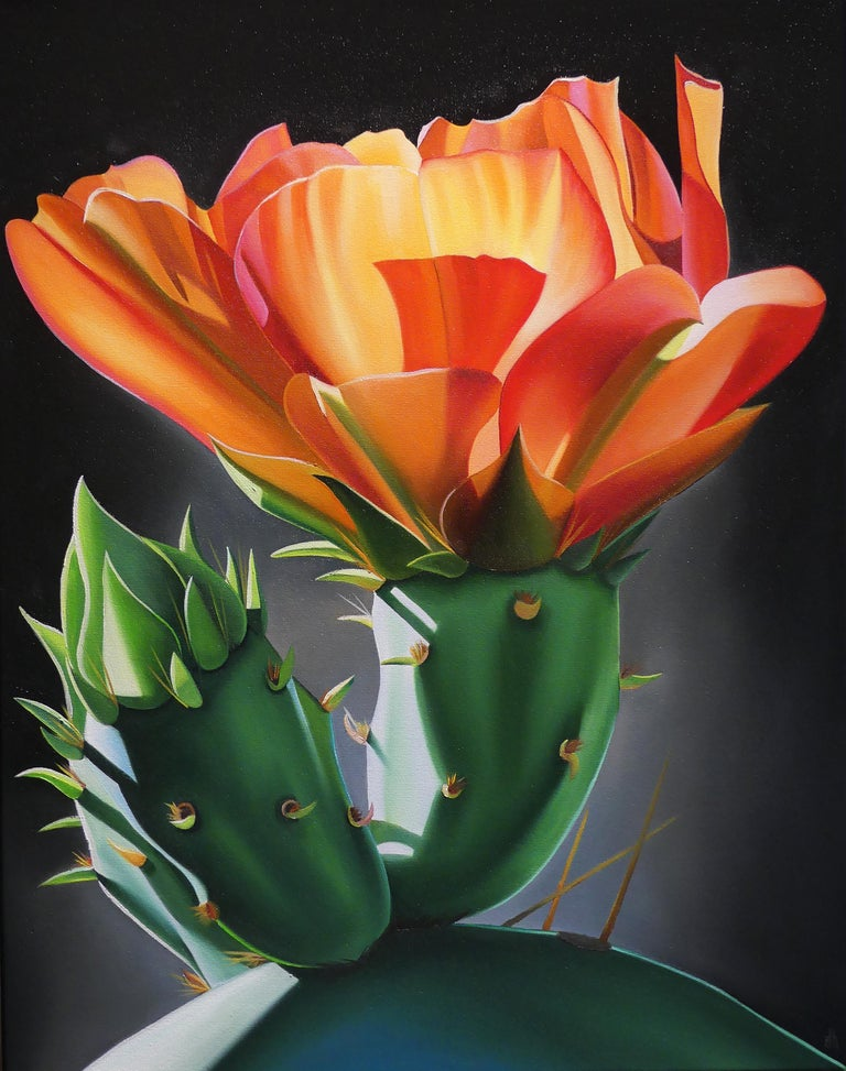 """Dyana Hesson Still-Life Painting - """"New Beginnings, Prickly pear and Buds"""""""