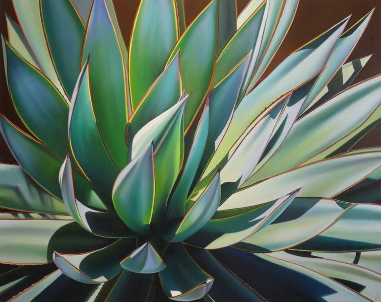 """""""Plant in Full Sun, Agave Blue Glow"""""""