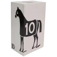 "Dylan Egon ""Black 10 Horse Table Stool"""