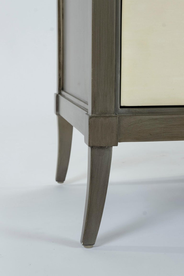American Dylan Grey and Cream Chest of Drawers For Sale