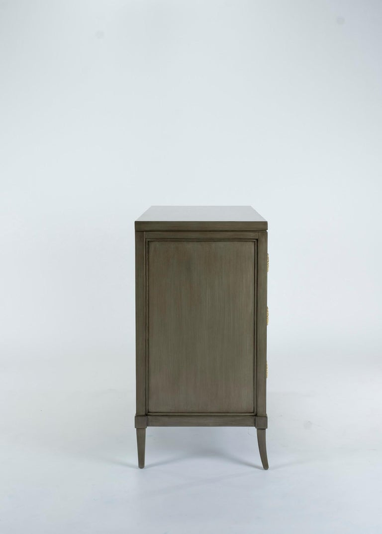 Contemporary Dylan Grey and Cream Chest of Drawers For Sale