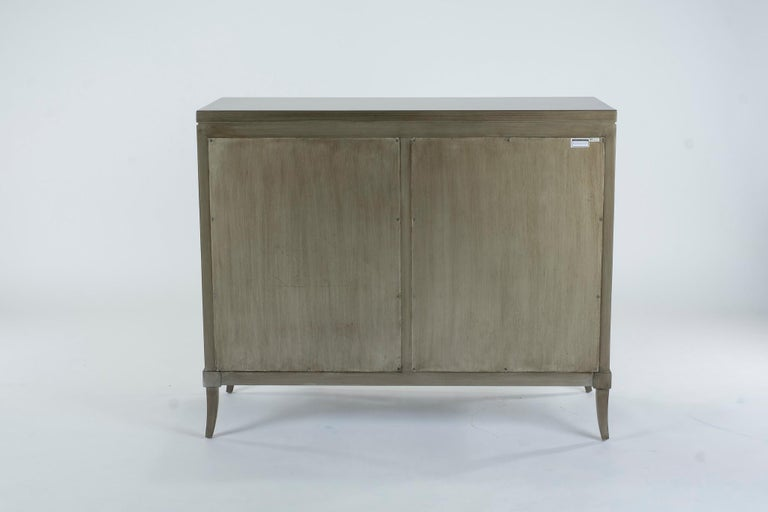 Mahogany Dylan Grey and Cream Chest of Drawers For Sale