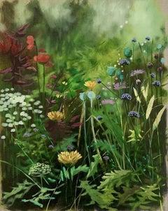 River Cottage Series (Large), Dylan Lloyd, Original Floral Painting, Affordable