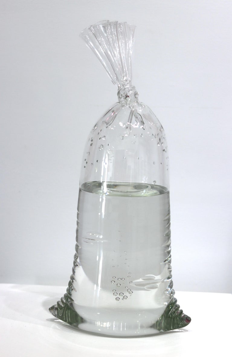 Water Bag 11 - One-of-a-kind Original Solid Glass Sculpture For Sale 4