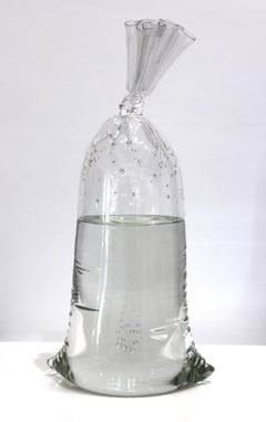 Water Bag 11 - One-of-a-kind Original Solid Glass Sculpture
