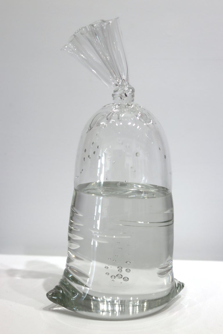 Water Bag 12 - Unique Glass Sculpture For Sale 1
