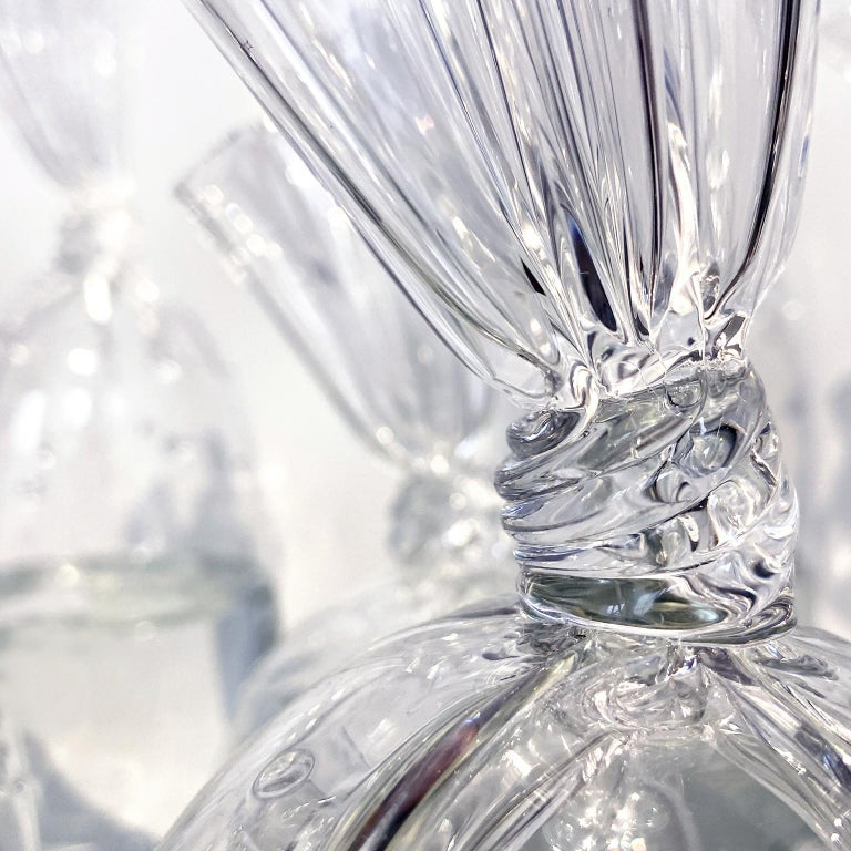 Contemporary Blown Glass: Water Bag III - Sculpture by Dylan Martinez