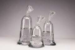 Glass Water Bag Sculptures - Trio