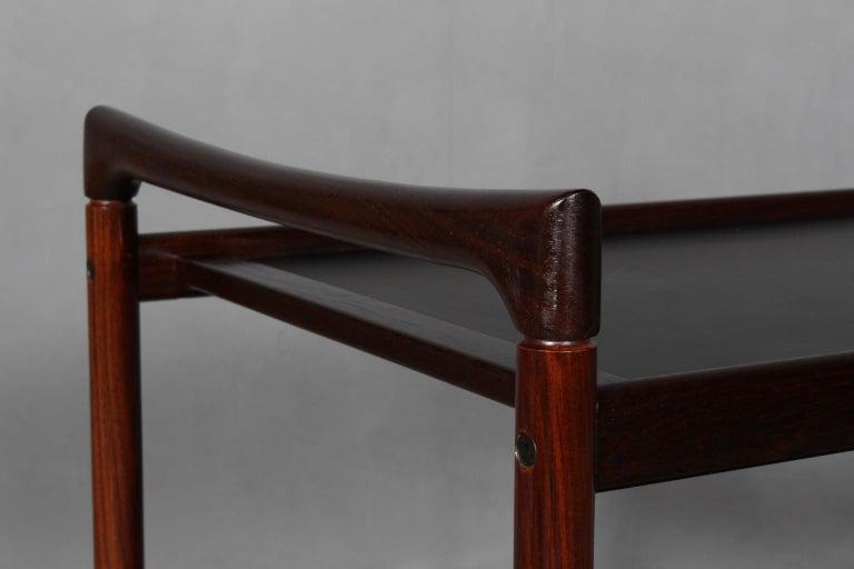 Scandinavian Modern Dyrlund Bar Cart, Rosewood For Sale
