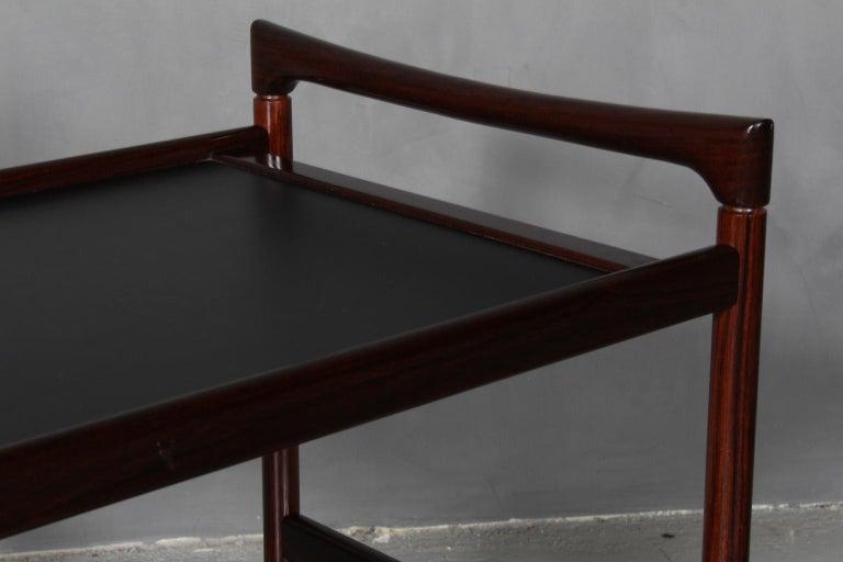 Danish Dyrlund Bar Cart, Rosewood For Sale