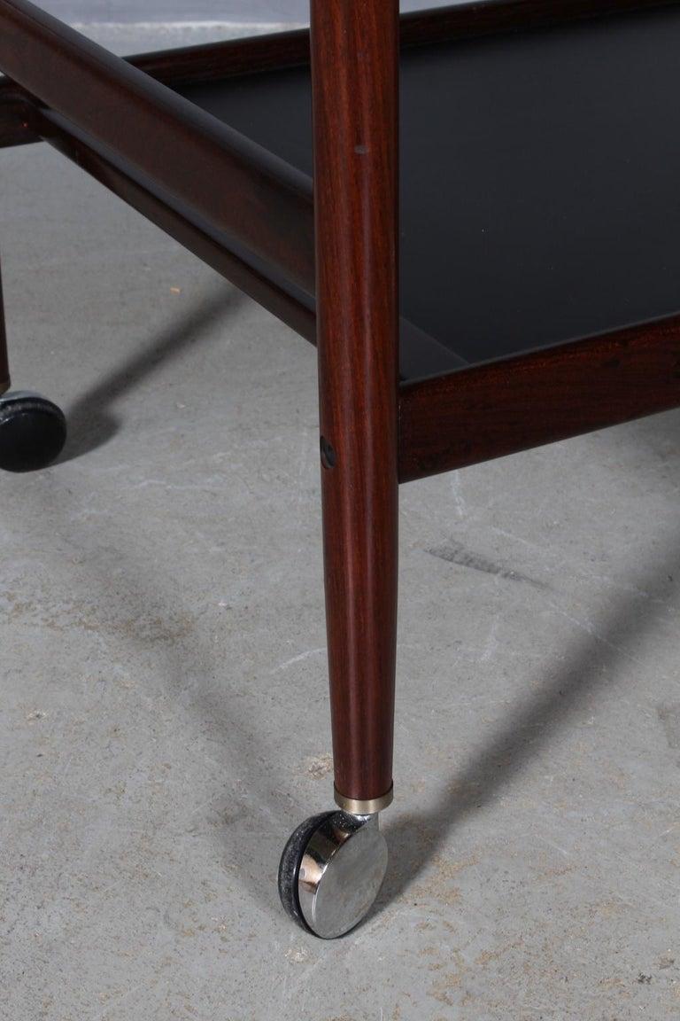 Mid-20th Century Dyrlund Bar Cart, Rosewood For Sale