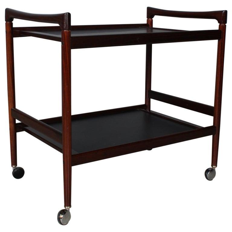 Dyrlund Bar Cart, Rosewood For Sale