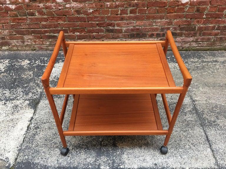 Dyrlund Danish Teak Rolling Cart 1