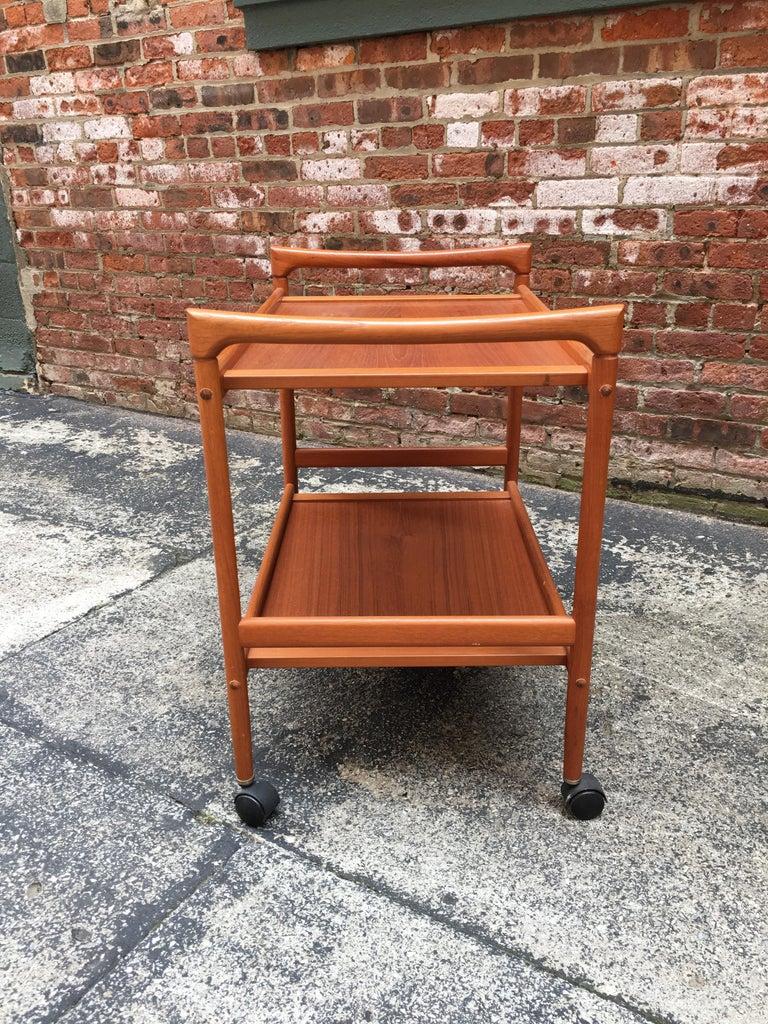 Dyrlund Danish Teak Rolling Cart 2