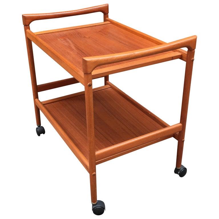 Dyrlund Danish Teak Rolling Cart