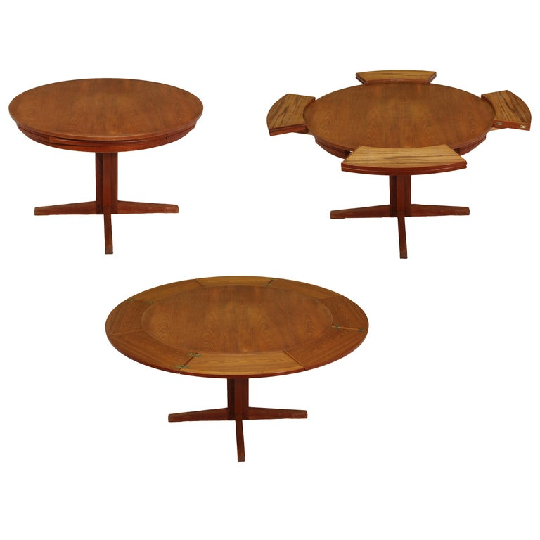 "Dyrlund ""Flip-Flap"" Lotus Dining Table For Sale"