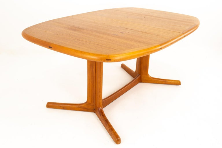 Late 20th Century Dyrlund Mid Century Hidden Leaf Teak Dining Table For Sale